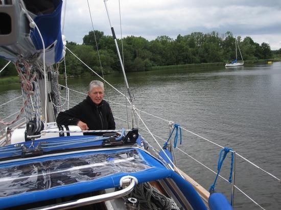Ankern auf dem Flemhuder See / Nord-Ostsee-Kanal