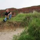 Rot ist die Kannt, grün ist das Land, weiß ist der Sand. Das sind die Farben von Helgoland.