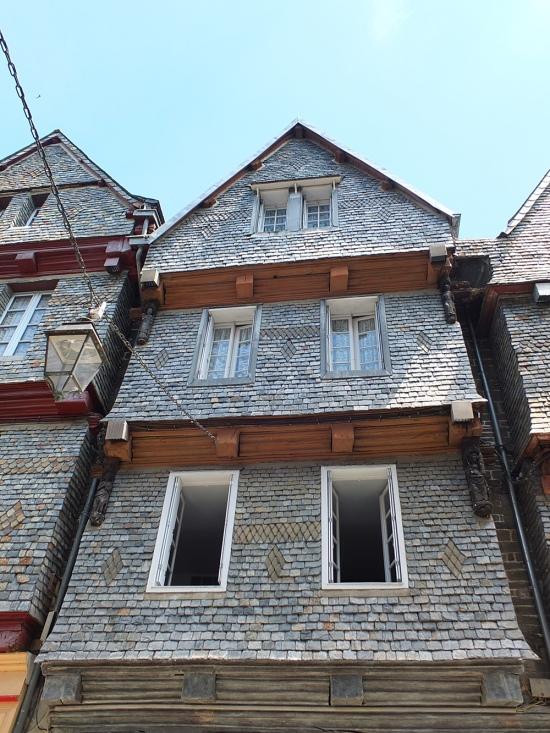 Schieferverkleidete Häuser aus dem 15. Jahrh.