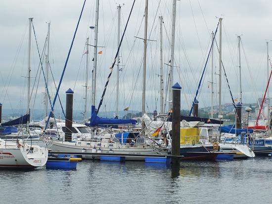Unser Liegeplatz in der Marina Coruna