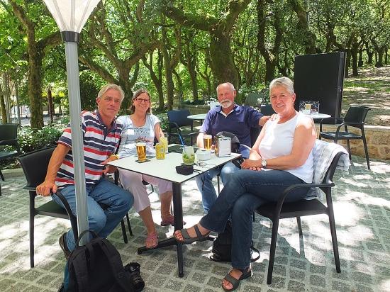 In Santiago de Compostela mit Steffi und Tomi