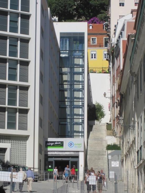 Aufzug von der Baixa zur Alfama