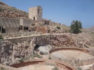 Ruine der Goldmine in Rodalquilar