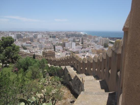 Blick von der Alcazaba auf Almeria