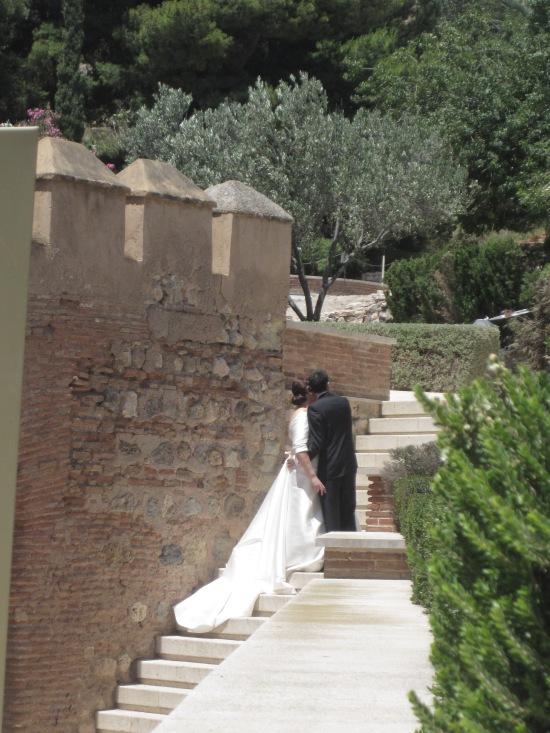 Hochzeitsfoto in der Alcazaba