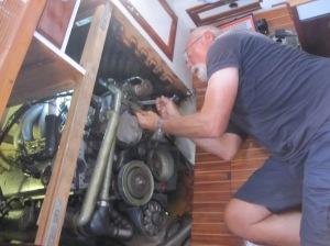 Verrenken und schwitzen ist des Skippers Los!