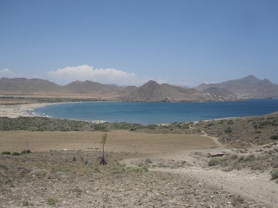 Blick auf Playa de los Genoveses und San Jose