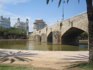 Brücke in Jardines del Turia