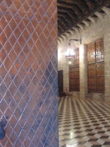 Die Tür zum Obergeschoss der Lonja