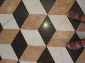 Der Fußboden im Obergeschoss der Lonja