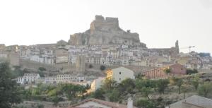 Von weit her sichtbar: Über Morella thront die Burg