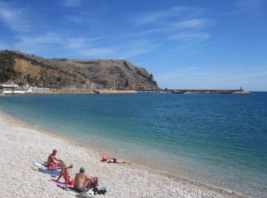 Strand in Javea
