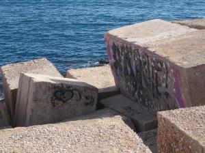 Deichbefestigung mit Kletterwand