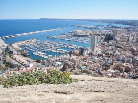 Ausblick von der Festung auf den Hafen