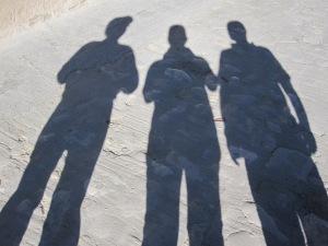 Von links nach rechts: Rolf, Christine und Heinz